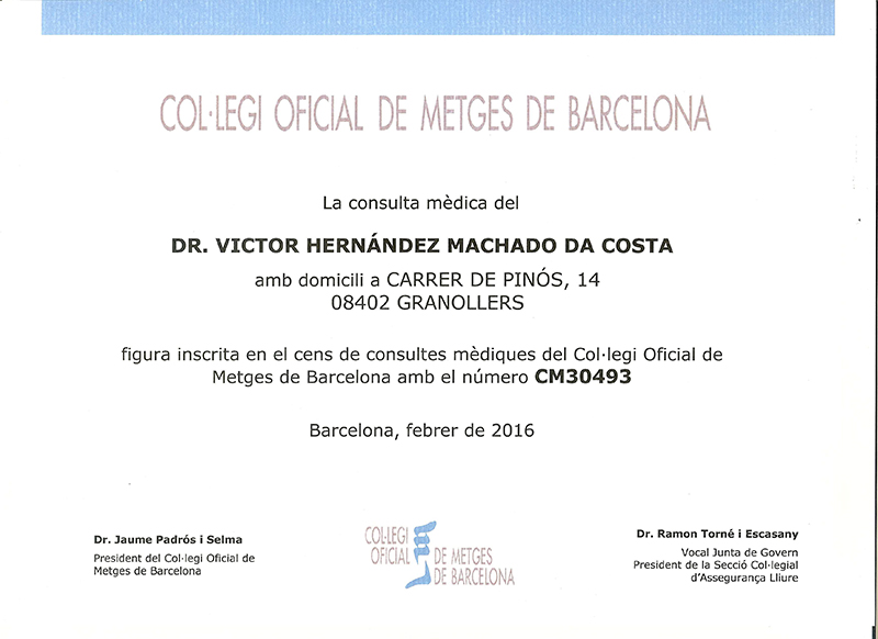 Censo Médico Oficial Granollers