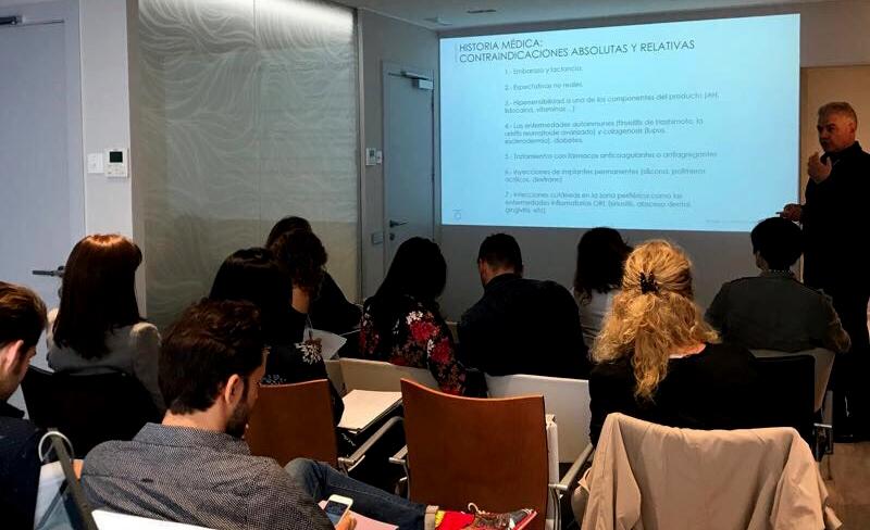 Éxito del curso de Teoxane España en Cànons Clinics Barcelona